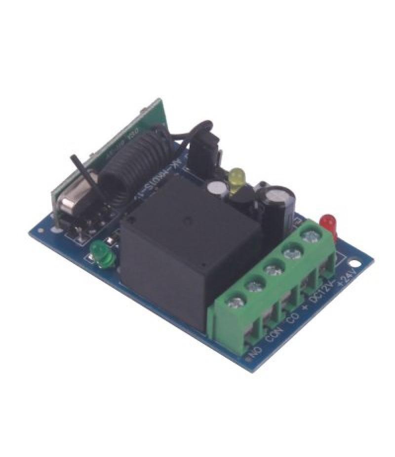 High Quality One Channel DC12V Wireless Remote Control Switch  -  Black 2 Keys