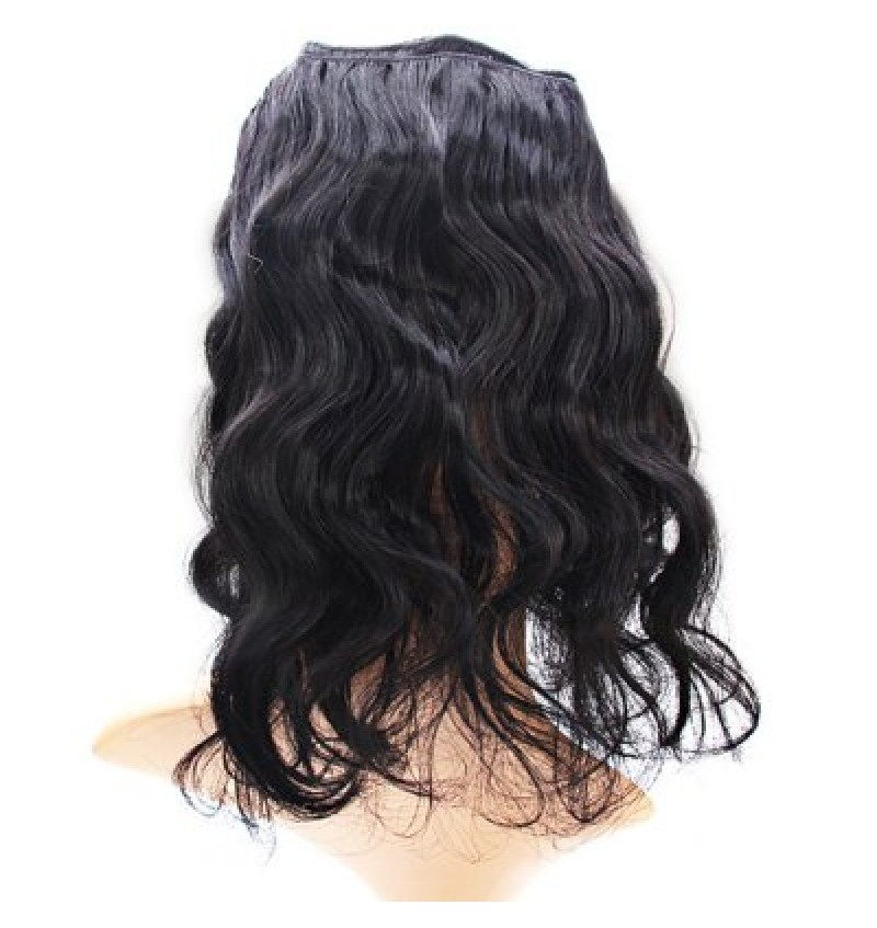 Thick Black Curly Hair Extension Tangle Free Hairpiece Wig for Female