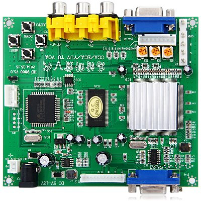 Latest GBS8200 Practical RGB CGA EGA YUV to VGA Arcade HD Video Converter Adapter Board for Des