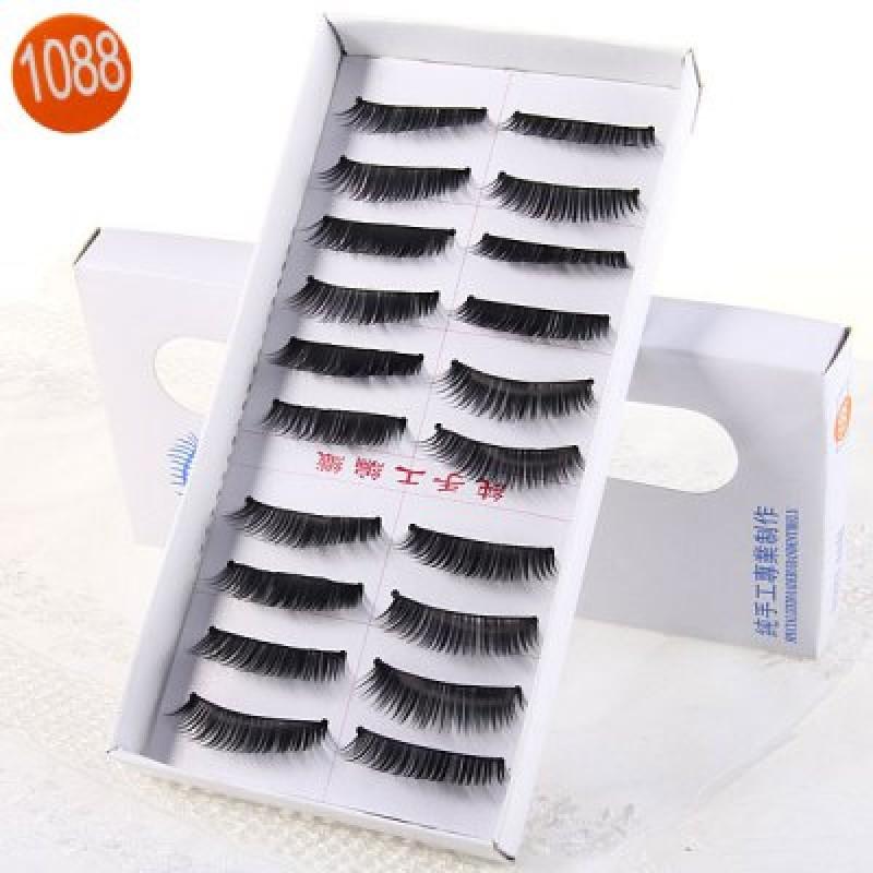 10 Pairs Three Tree Manual False Eyelash Makeup for Women  -  Type 1088