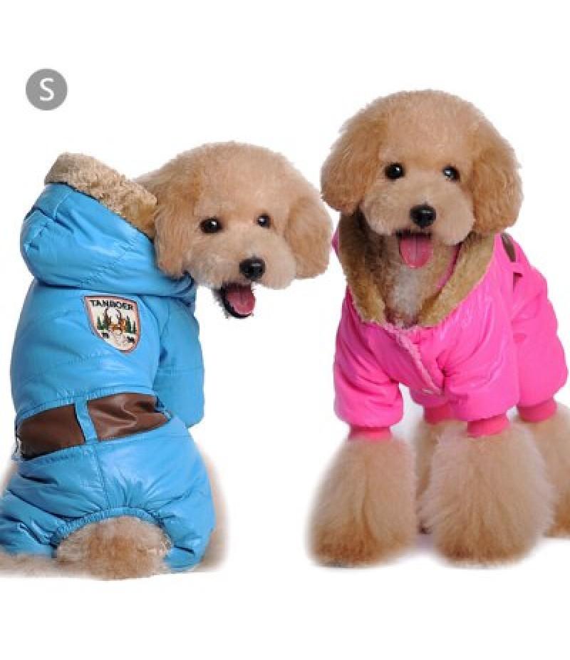 1 Piece of Winter Warm Pet Dog Coat Four Leg Dress Buttons Closure Size S
