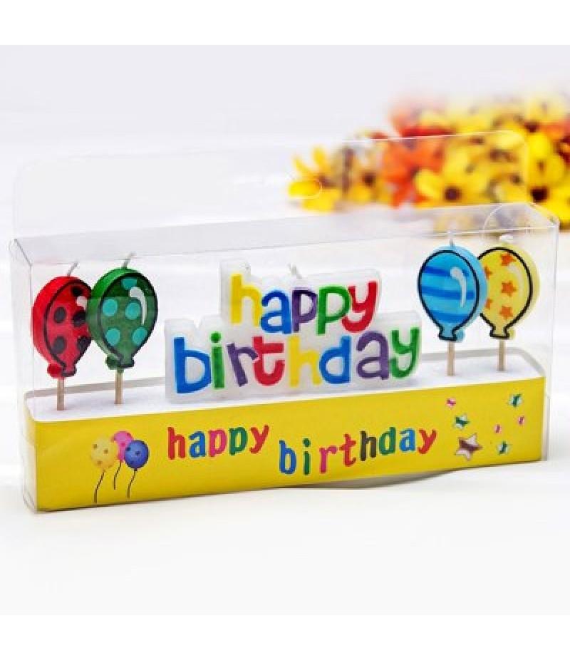4Pcs Colorful Ballon Cartoon Birthday Candle