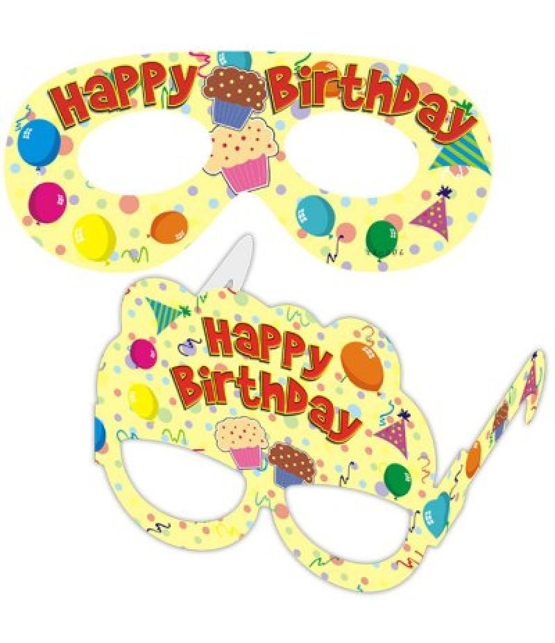 Happy Birthday Design Paper Eye Mask