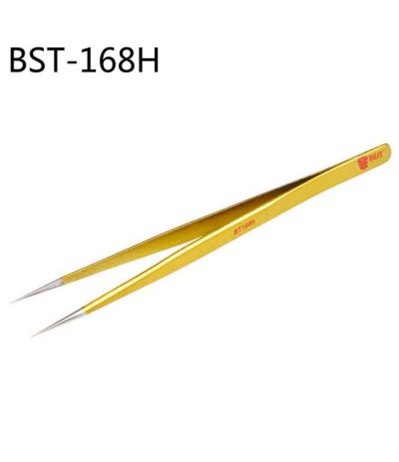 BEST BST-168H Gold-plated Impact Resistance Tweezer