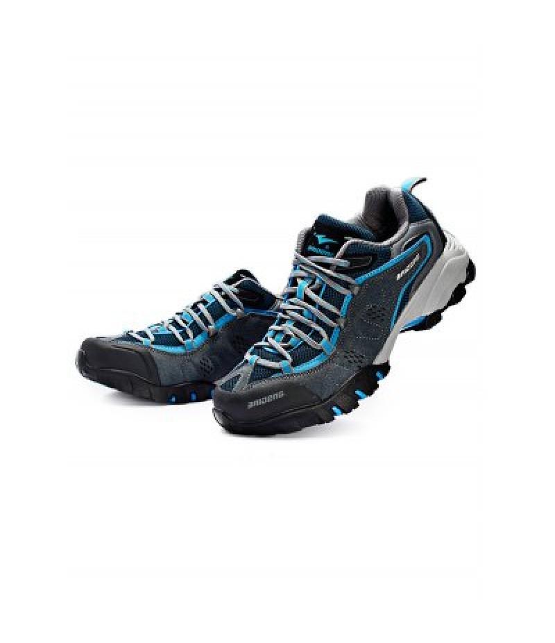 BAIDENG Outdoor Men Breathable Mesh Trekking Shoes