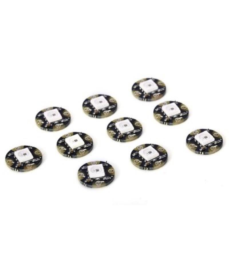 10PCS Mini WS2812 RGB Full-Color LED Circle Module