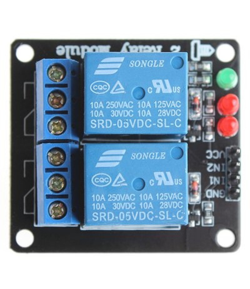 2 Channel 5V SongLe Relay Shield Module DIY for Arduino