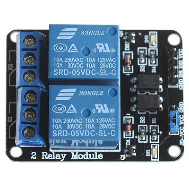 2 Channel 5V Relay Module for SCM Development  Home Appliance Control