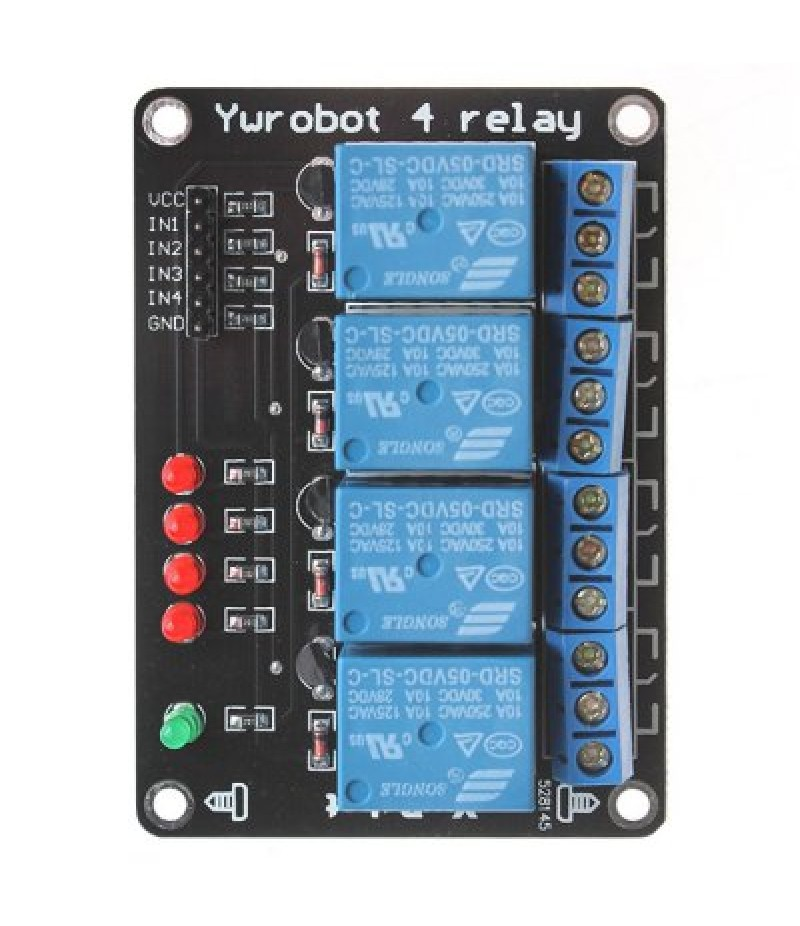 4 Channel SongLe Relay Module Microcontroller Development Board
