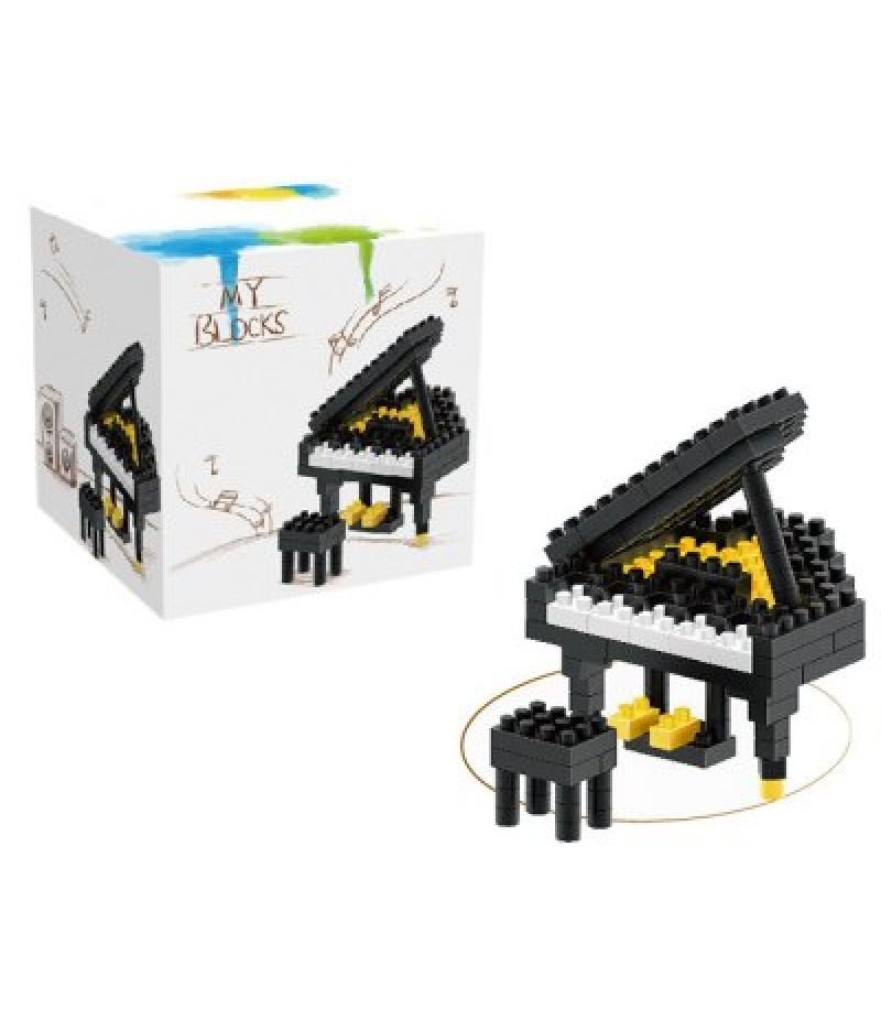 133Pcs Piano Shape Building Block Educational Decoration Toy for Spatial Thinking
