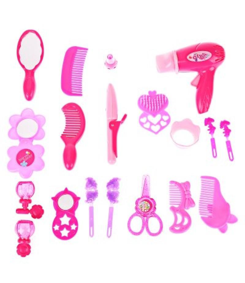 Novel Pink Make Up Hairdressing Sets