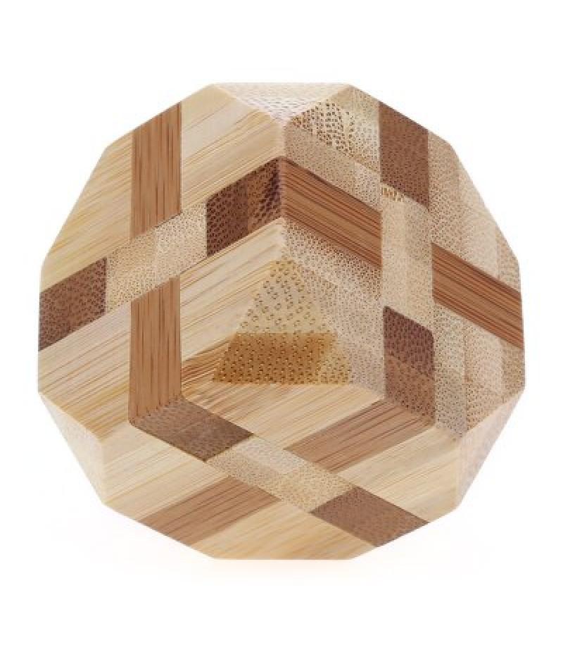 3D Interlocking Tetrakaidecahedron Wooden Burr Puzzle