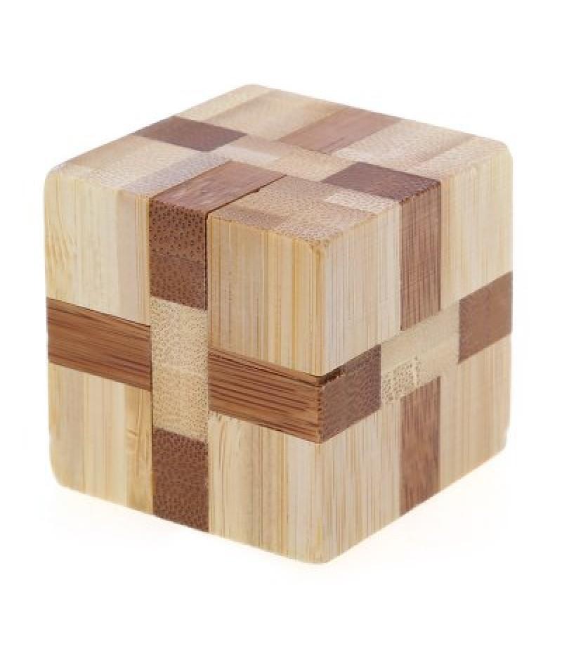 3D Interlocking Cube Wooden Burr Puzzle