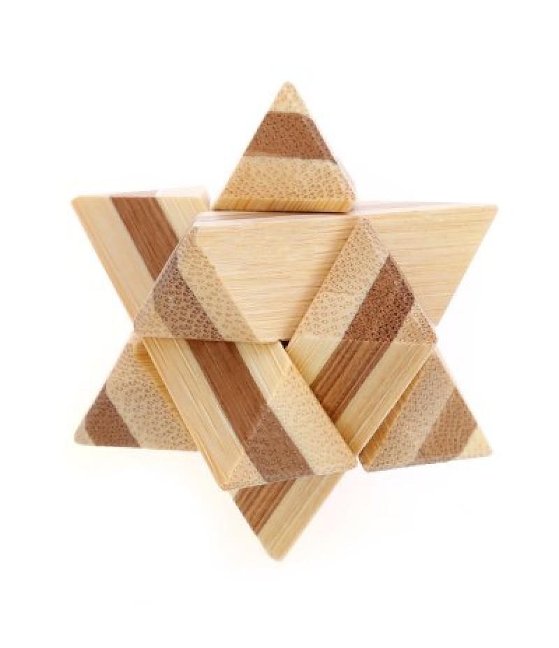3D Interlocking Star Wooden Burr Puzzle