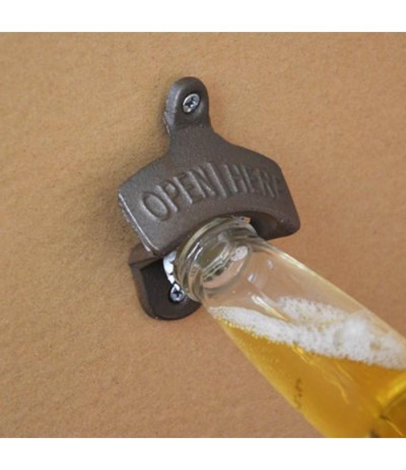 Cast Iron Wall Mounted Bottle Opener