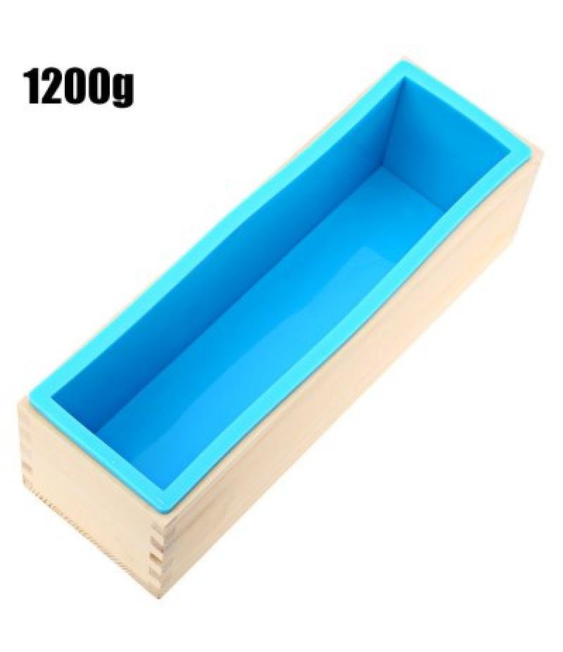 1200g Silicone Soap Mold Wooden Box