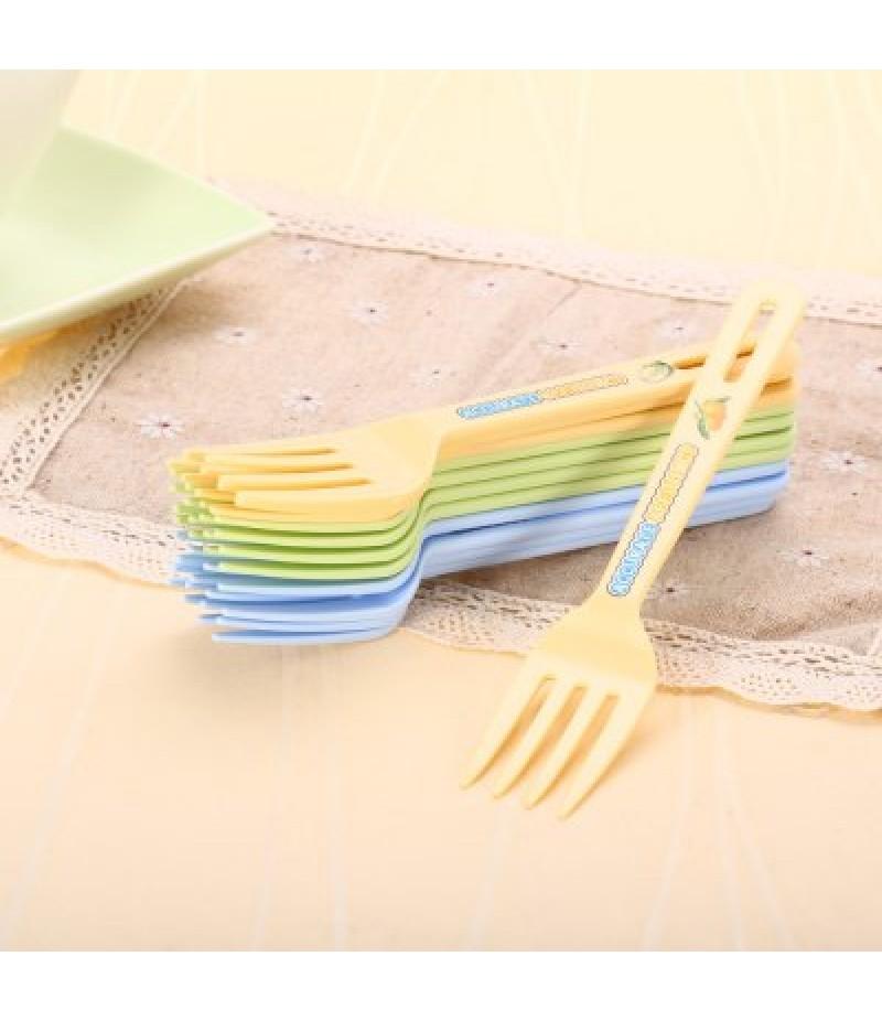 12PCS Colorful PP Fork