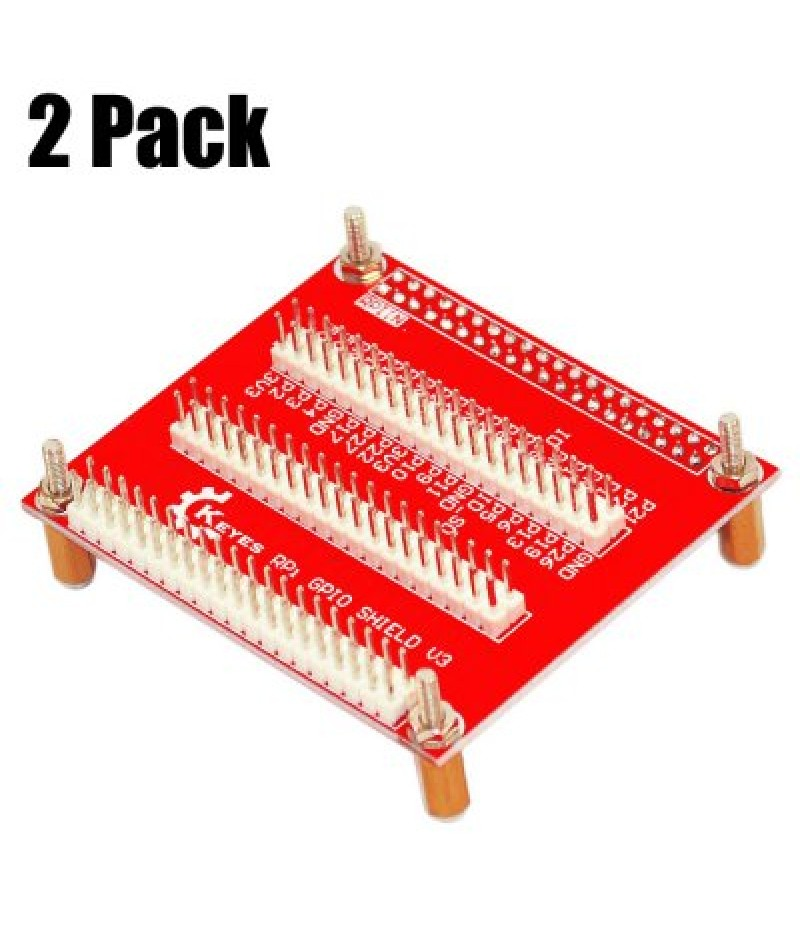 2 Pack Keyestudio Exclusive One-to-three GPIO Expansion Board V3 Compatible with Raspberry Pi 3