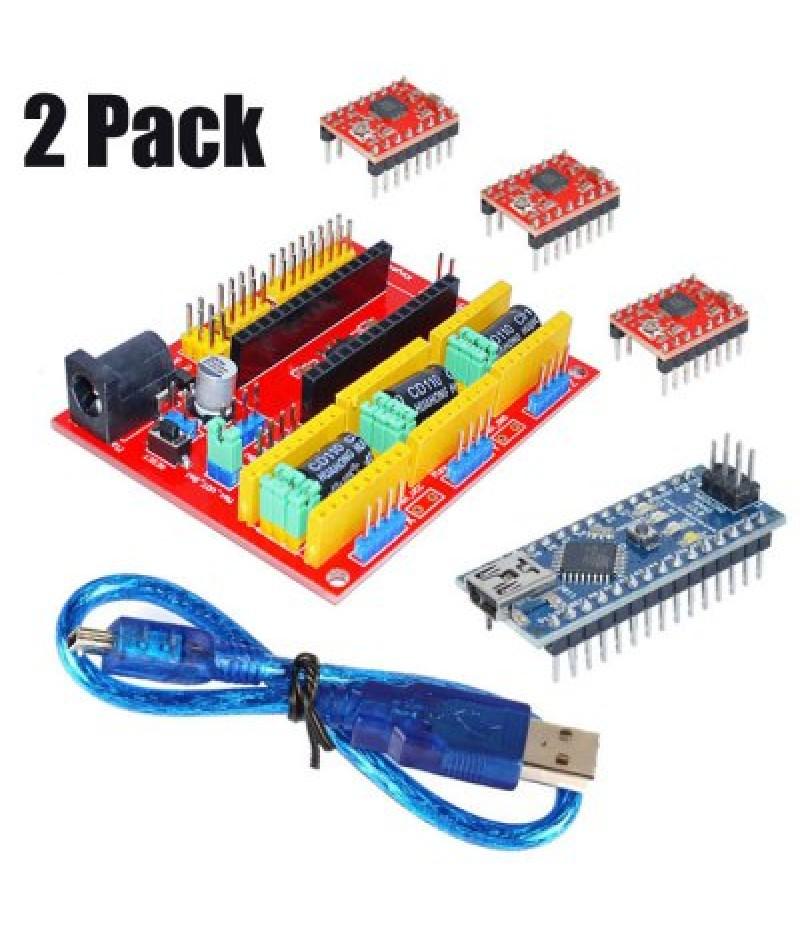 2 Pack 3D Printer Part CNC for Arduino