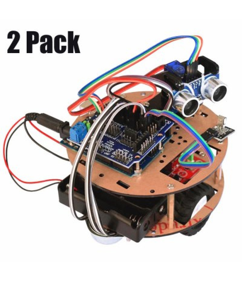 2 Pack RT0004 Intelligent Car Kit Remote Control Ranging Vehicle Smart Robot Little Turtle for