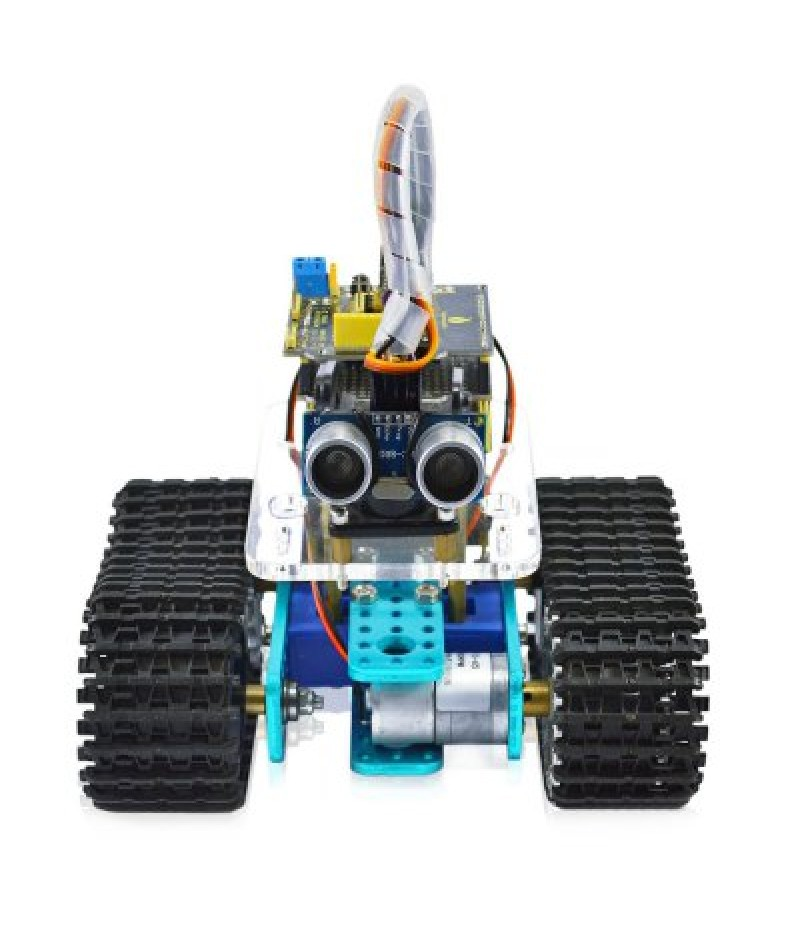 Keyestudio TS - 50 Mini Bluetooth Tank Robot Smart Car Kit