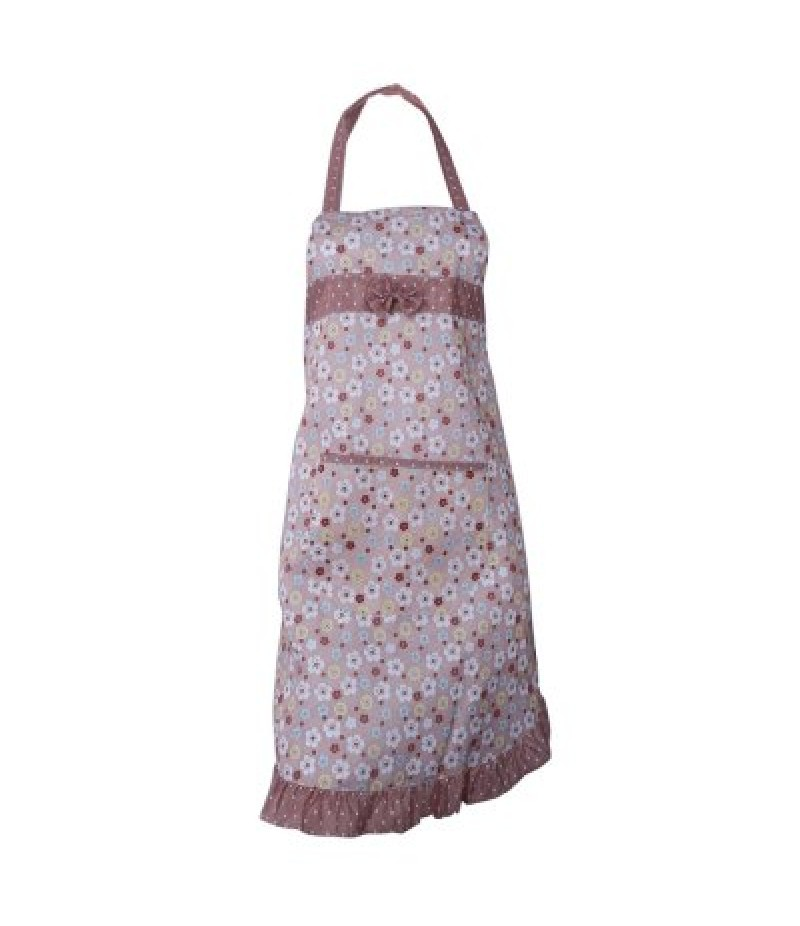 Fashion Kitchen Cooking Flower Lace Women Apron