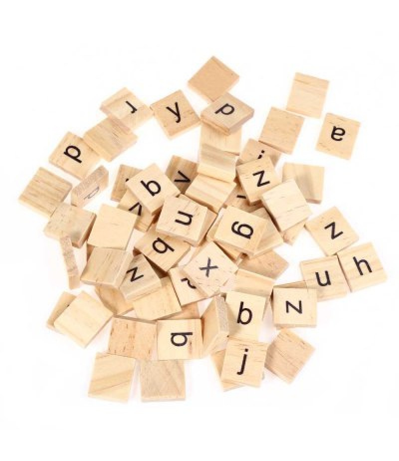 100pcs Wooden Lowercase?Letters Board Toy