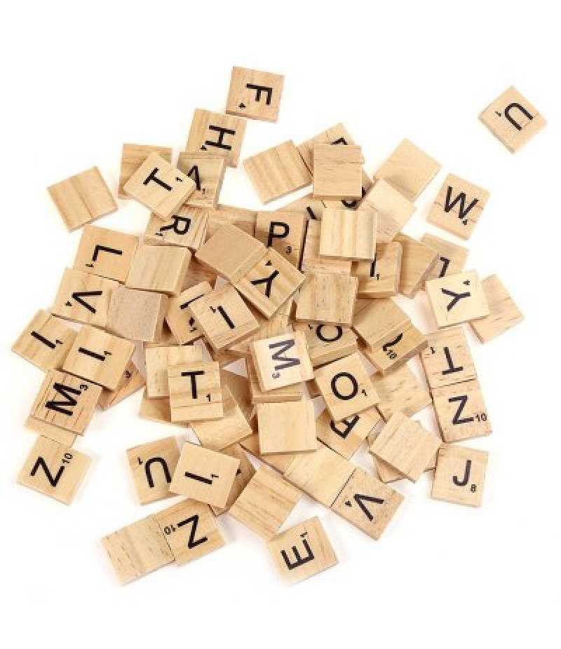 100pcs Wooden Capital?Letters Board Toy