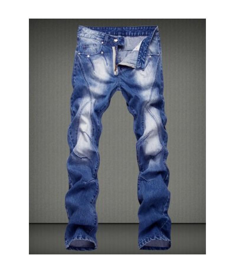 Casual Straight Legs Denim Pants For Men