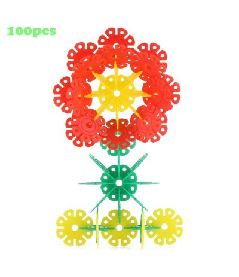 100pcs DIY Snowflake Building Blocks