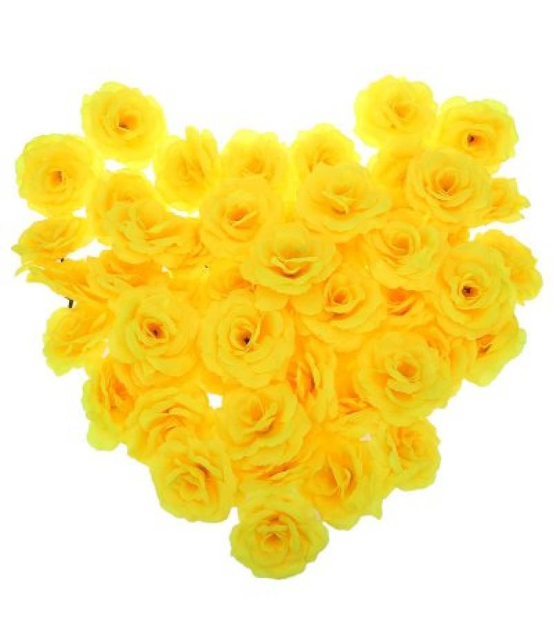 50pcs Artificial Roses Decorative Flowers