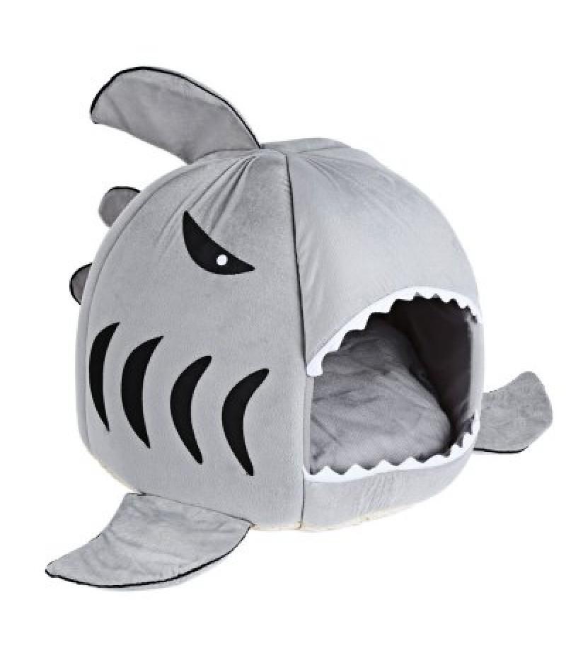 Novelty Soft Shark Mouth Shape Doghouse