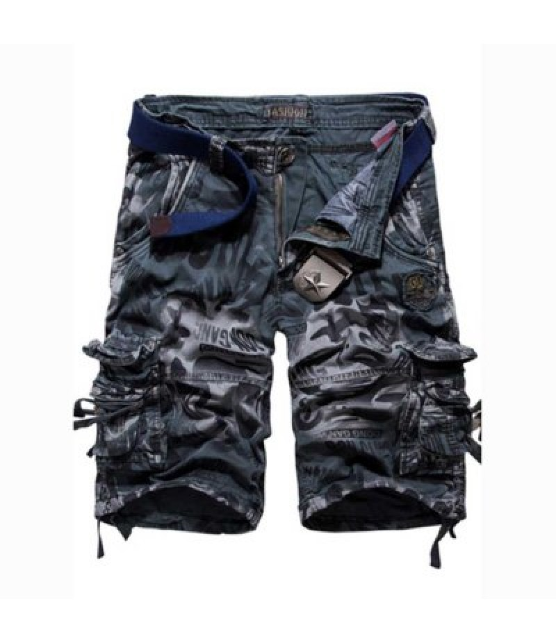 Camouflage Pocket Design Zipper Fly Men Casual Shorts
