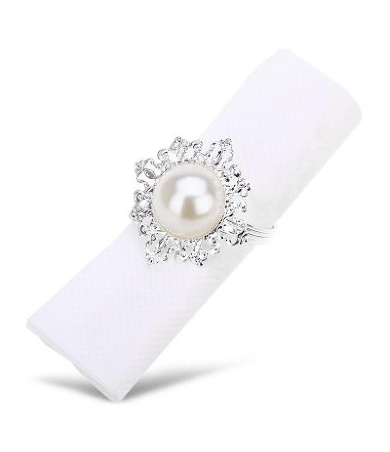 12pcs Pearl Napkin Ring
