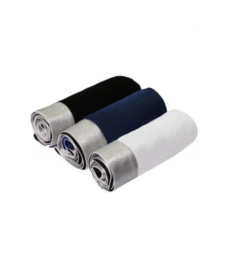 Cherlamode (Three Color) 3PCS U Pouch Design Solid Color Boxer Shorts For Men