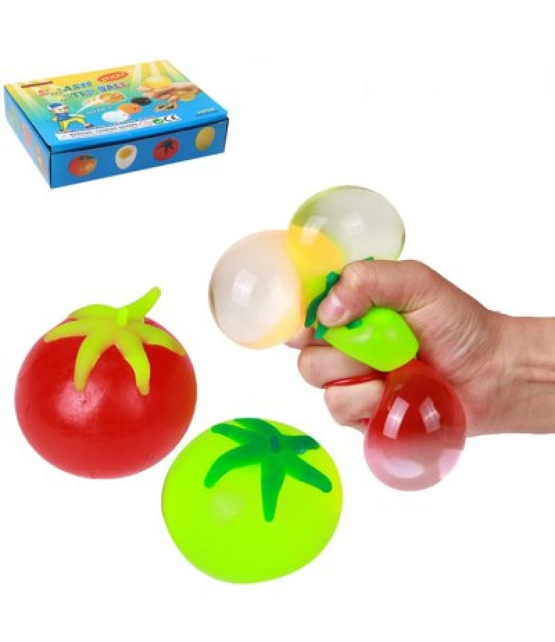 1pc Funny Squeeze Tomato Elastic Vent Kid Toy for Stress Release