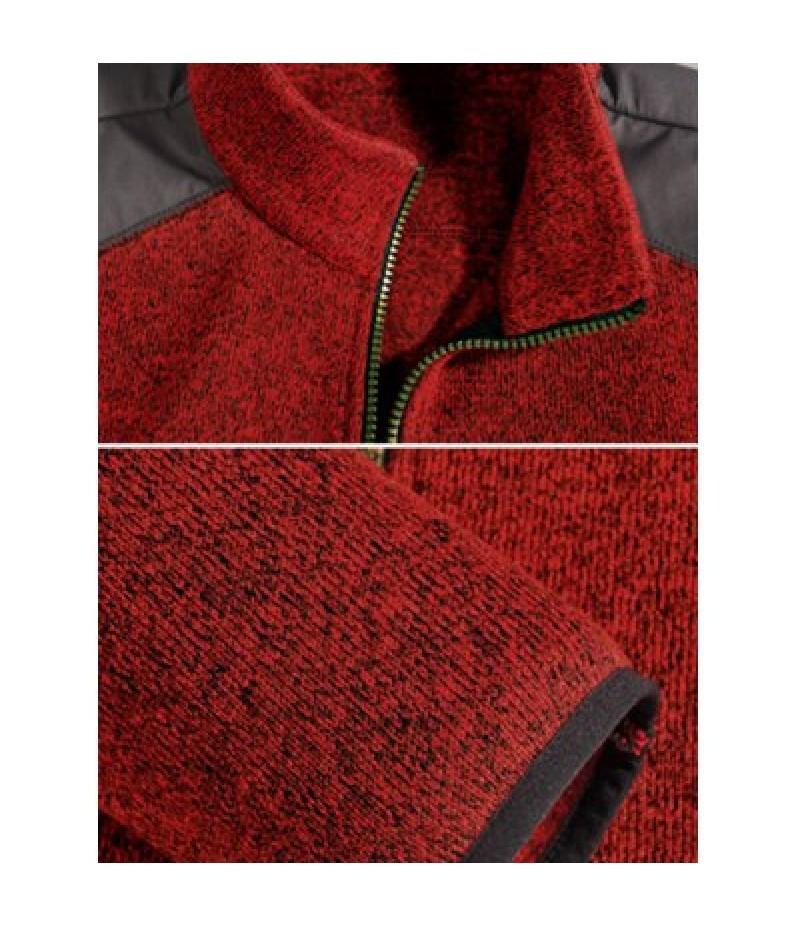 Zippered Color Splicing Napping Jacket ODM Designer
