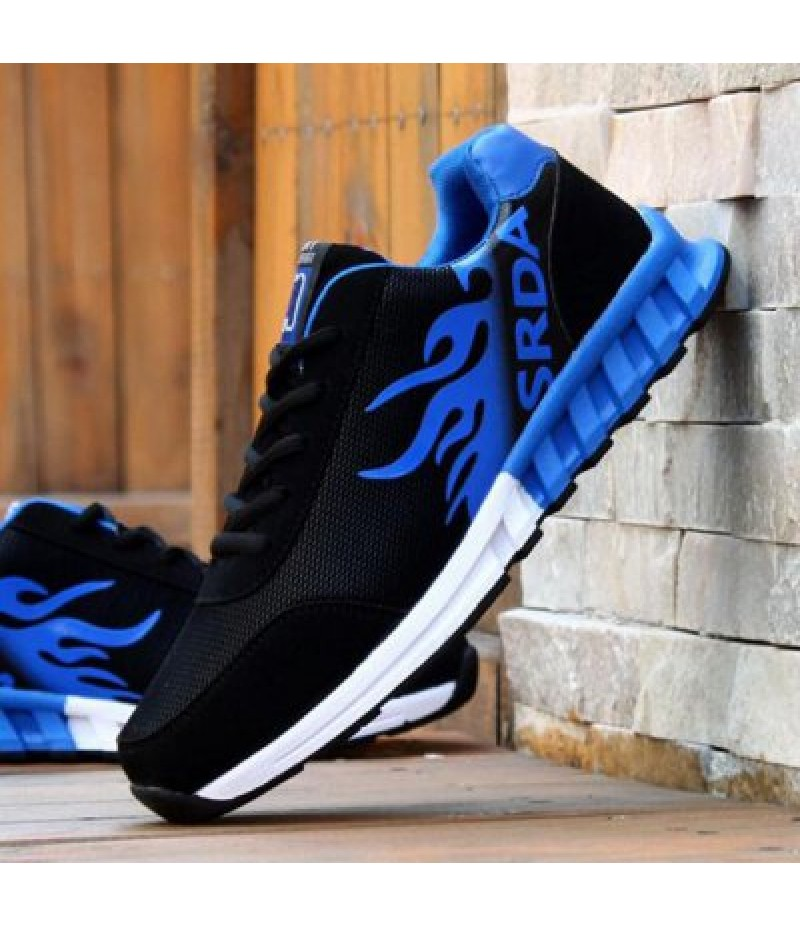 Breathable Tie Up Colour Block Athletic Shoes