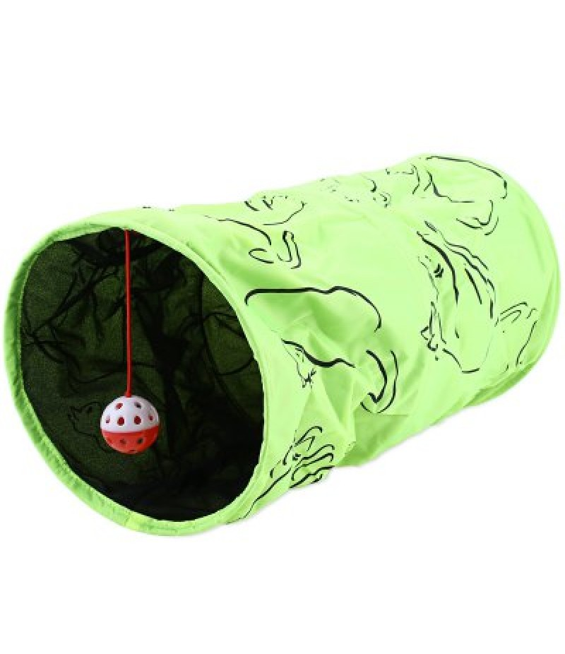 Folding Cat Kitten Tunnel Toy with Ring Ball