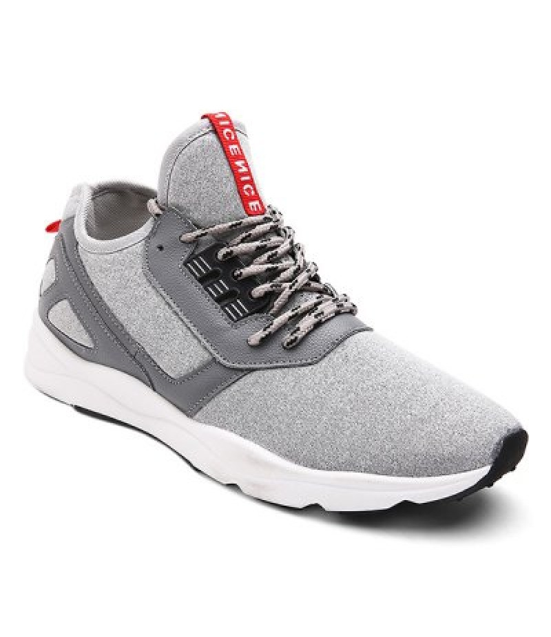 Color Block PU Leather Insert Athletic Shoes