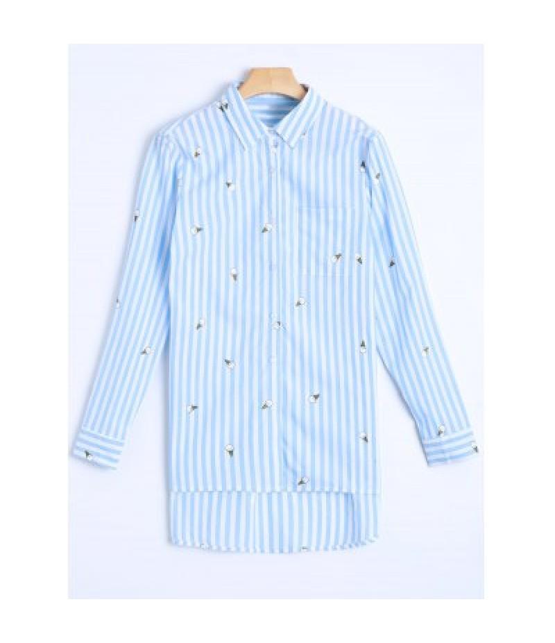 Striped Casual Boyfriend Shirt