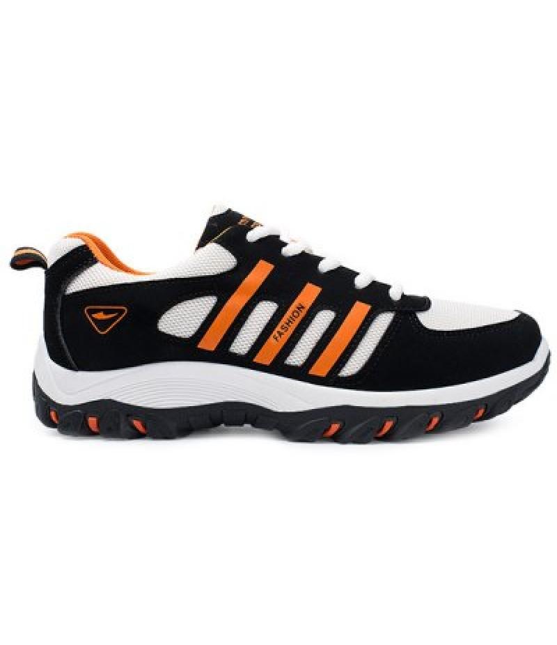 Colour Block Lace-Up Suede Athletic Shoes