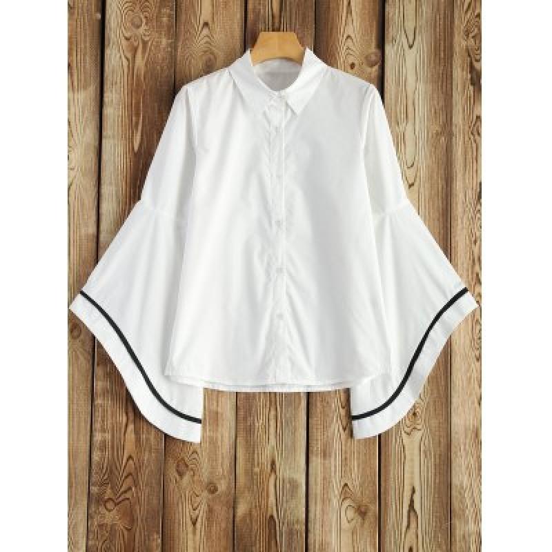 Striped Bell Sleeve Shirt