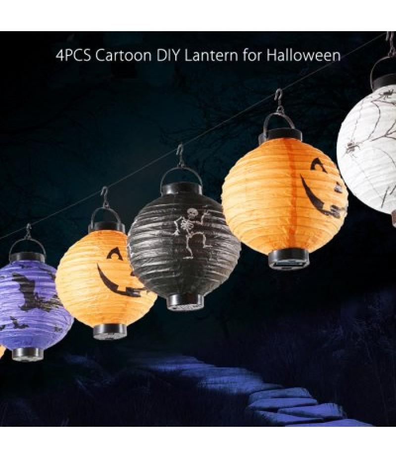 4PCS Cartoon DIY Round Lantern