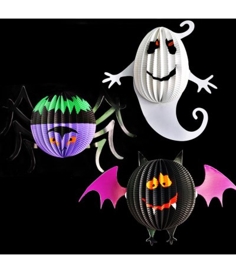 3PCS Cartoon DIY Halloween Lantern