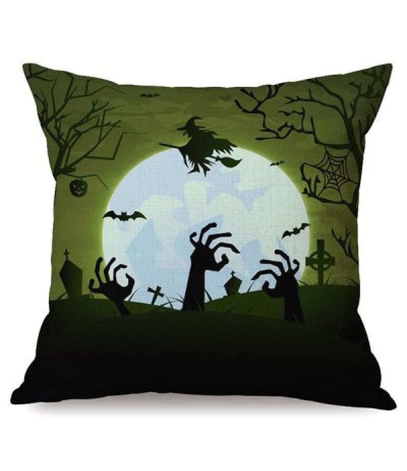 Antibacteria Happy Halloween Night Sofa Cushion Printed Pillow Case