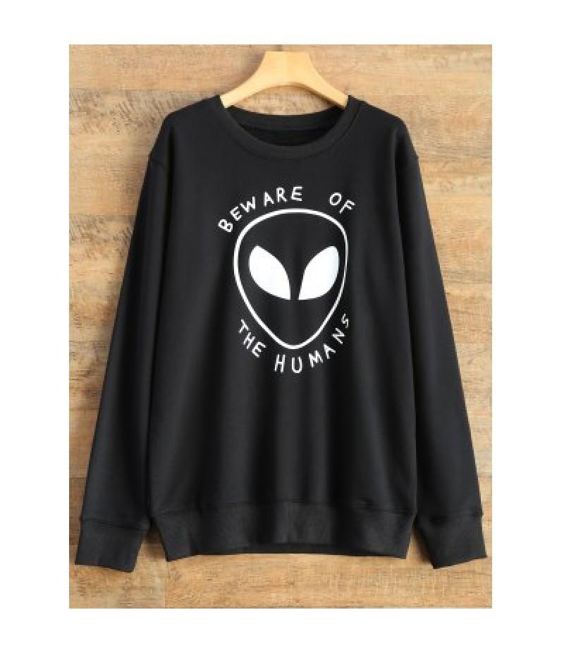 Alien Letter Casual Sweatshirt