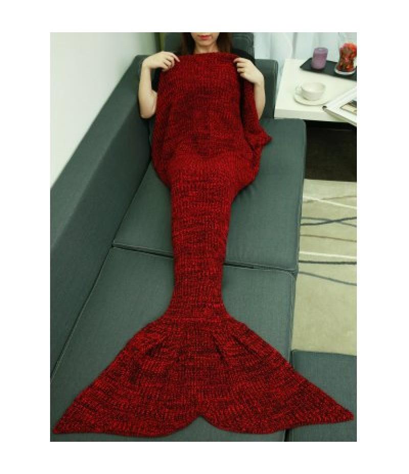 Christmas Knitting Sleeping Bag Fish Tail Design Blanket