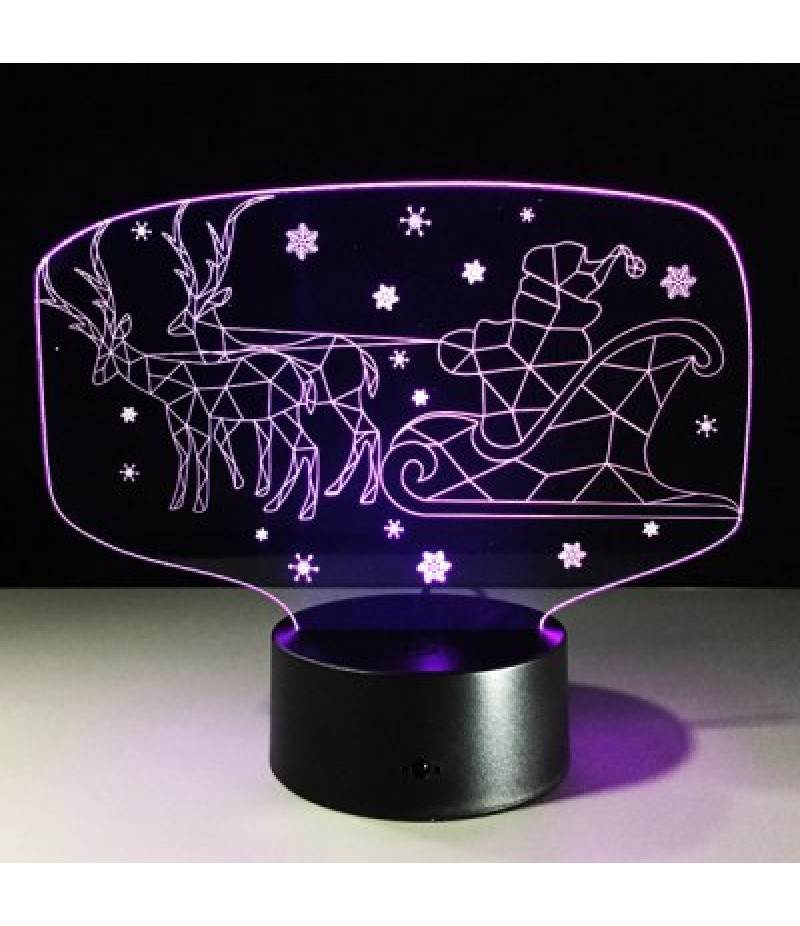 Colorful 3D Illusion LED Kids Room Christmas Night Light