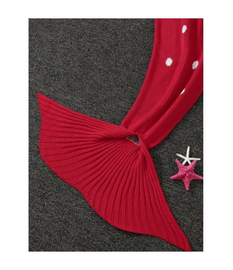 Warmth Christmas Elk Pattern Knitted Mermaid Tail Blanket